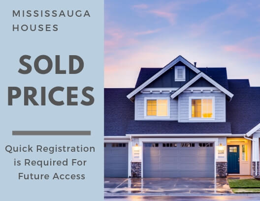 Sold Prices for Mississauga Homes